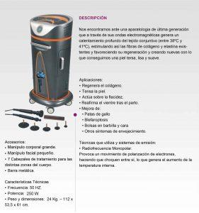 RF MONOPOLAR DE PIE FICHA TÉCNICA
